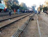 تعطل حركة القطارات جزئيًا فى أسوان بسبب خروج جرار عن القضبان