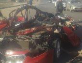 إصابة 19شخصا فى حادث تصادم أتوبيس بسيارة أجرة فى بنها