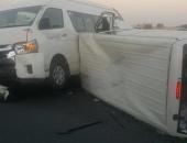 بالصور.. إصابة 28 شخصا فى حادثين مروريين فى إمارة دبي