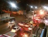 شلل مرورى بطريق الإسكندرية الزراعى بعد تصادم سيارتين ودراجة نارية بمزلقان قها