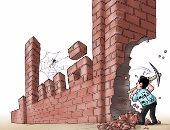 الرقابة الإدارية تهدم إمبراطورية الفساد.. فى كاريكاتير اليوم السابع