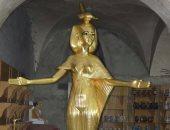 """ننشر صور للنموذج الأثرى معبودة """"سرقت"""" قبل عرضه بمطار القاهرة"""