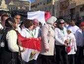 """بالصور.. ماراثون للدراجات بمنطة الهرم تحت شعار """"وطن واحد .. لا للإرهاب"""""""