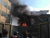 اندلاع حريق بمصنع بلاستيك فى أبو رواش.. و6 سيارات إطفاء تحاول إخماده