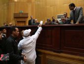 """سماع مرافعة الدفاع فى محاكمة 215 متهما بقضية """"كتائب حلوان"""""""