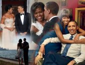 20 صورة تلخص قصة حب باراك وميشيل أوباما من 2008 لـ2017