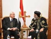 المستشار عدلى منصور يهنئ البابا تواضروس الثانى بعيد الميلاد المجيد