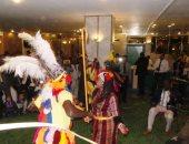 """شاهد.. """"الرقصات الأفريقية"""" تشعل احتفالية أسوان بعيد استقلال السودان الـ61"""