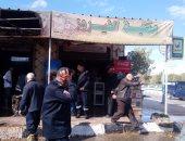 انتداب المعمل الجنائى لمعاينة حريق داخل مطعم بمدينة نصر