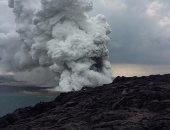 """بالفيديو.. سقوط 26 فدانا من جزيرة """"هاواى"""" فى المحيط بسبب الحمم البركانية"""