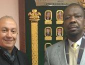 الششتاوى يستقبل جوزيه مجيل سفير موزمبيق فى اللجنة الأولمبية المصرية