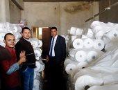 ضبط 5 مصانع بدون ترخيص بها 42 طن منتج نهائى مواد خام وحلوى بالقناطر الخيرية