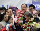 وسط استقبال حاشد فى سيول.. بان كى مون: سأحرق جسدى لتوحيد كوريا الجنوبية