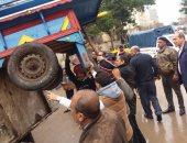 شاهد أكبر حملة إزالة إشغالات بحى عين شمس شرق القاهرة