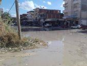 """بالصور.. معاناة أهالى """"أبو تلات"""" بالساحل الشمالى من مياه الأمطار والصرف"""