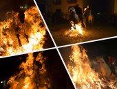 """""""الخيل فى النار"""" مهرجان إسبانى منذ 500 عام لتجنيب حيواناتهم الأمراض"""