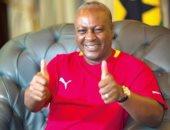 رئيس غانا الخاسر يدعم البلاك ستارز فى كان 2017