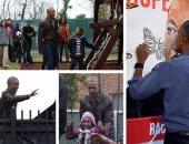 """قبل وداعه للبيت الأبيض.. أوباما يزور """"أطفال بلا مأوى"""" ويتبرع بأرجوحة"""