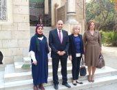 حرم رئيس دولة لاتفيا السابق تزور متحف قصر محمد على