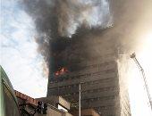 38 مصابا فى انهيار مبنى من 17 طابقا بسبب اندلاع حريق بطهران