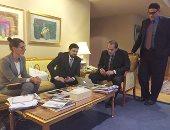 بالصور.. وزير الزراعة  من برلين :ميركل أعربت عن تقديرها للسيسى وتزور مصر قريبا