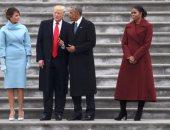 بالصور.. أوباما يغادر الكونجرس ويغيب عن حفل غداء أعده ترامب