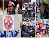 تظاهرات ضد ترامب فى أوروبا ولليوم الثانى فى لاس فيجاس