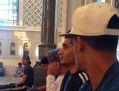 بالصور.. المنتخب العسكرى يؤدى صلاة الجمعة بمسجد السلطان قابوس الأكبر
