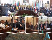 """بالفيديو.. مصر تقود حل الأزمة.. """"وزراء دول جوار ليبيا"""" يعلنون من القاهرة رفض أى تدخل أجنبى بليبيا"""
