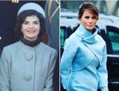 """صورة لجاكلين كيندى عام 1961 تشبه إطلالة """"ميلانيا ترامب"""" بحفل التنصيب"""