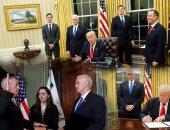 ترامب داخل المكتب البيضاوى ووزير الدفاع يؤدى اليمين الدستورية