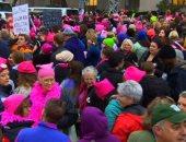 بالفيديو.. آلاف السيدات يتظاهرن ضد ترامب فى واشنطن