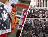 تظاهرات نسائية احتجاجا على أعمال العنف ضد المرأة فى اسطنبول