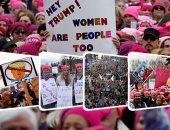 "آلاف السيدات فى مظاهرات ضد ""دونالد ترامب"""