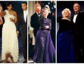 """بالصور.. تعرف على أشهر مصممى أزياء السيدات الأوائل لأمريكا بحفلات تنصيب أزواجهن على مر التاريخ؟.. بات نيكسون ارتدت من Karen Stark عام 69.. هيلارى اختارت Sarah Phillips.. وميشيل أوباما فضلت """"Jason Wu"""""""