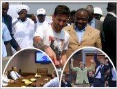 """رئيس فى هيئة مشجع.. كرة القدم تظهر الوجه الآخر لقادة العالم.. أوباما يؤازر أمريكا بالمونديال من الطائرة الرئاسية.. هولاند يتحدى الإرهاب من مدرجات يورو 2016.. """"المنزل"""" يجمع السبسى وروحانى.. وبونجو عاشق النجوم"""