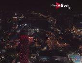بالفيديو.. ON live تحتفى بانطلاقها بالتقاط صورا من طائرة أعلى سفح الأهرامات وبرج القاهرة