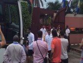 بالفيديو.. المنتخب يتوجه لخوض المران الأول استعدادا لغانا بعد توقف الأمطار