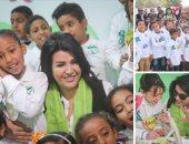 """بالصور والفيديو..""""مصر الخير""""تزور مدارس التعليم المجتمعى فى العوابد بالأقصر لدعم مبادرة تعليم 10 آلاف طفل بالصعيد برعاية """"اليوم السابع"""".. والأطفال يستقبلوها بالورود.. ومنى الشاذلى تشاركهم الرسم والغناء"""