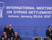 الوفد الروسى المشارك فى مفاوضات أستانة يجرى مباحثات مع الوفد السورى