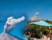 """تجدد ثوران بركان """"كوليما"""" بالمكسيك وأعمدة الدخان تتصاعد من فوهته"""