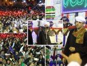 ياسين التهامى ينشد وسط آلاف المريدين فى ليلة استقرار رأس الحسين