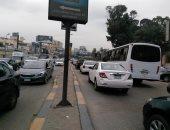 بالصور.. زحام مرورى بمعظم محاور وميادين القاهرة والجيزة