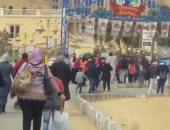 بالفيديو.. زحام شديد على «الملاهى» تزامنا مع ذكرى ثورة يناير وعيد الشرطة