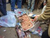 ضبط 27 كيلو دجاج ولحوم منتهية الصلاحية داخل محل بطنطا