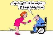 """مبارك يندم على """"خليهم يتسلوا"""" فى كاريكاتير اليوم السابع"""