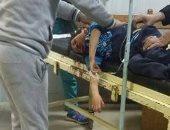 إصابة طفل بارتجاج بالمخ لسقوطه من اعلى مرجيحة بحديقة مدرسة بالعبور