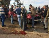 إصابة 17 عاملا فى حادث انقلاب سيارة ربع نقل على صحراوى بنى سويف