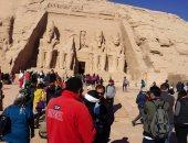 """وزراء السياحة والآثار والثقافة يشاركون باحتفالية 200عام على اكتشاف """"أبوسمبل"""""""