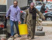 انقطاع المياه عن شوارع العمرانية فى الجيزة والأهالى يستغيثون بالمحافظ
